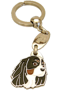 CAVALIER KING CHARLES SPANIEL TRICOLOR - pet ID tag, dog ID tags, pet tags, personalized pet tags MjavHov - engraved pet tags online
